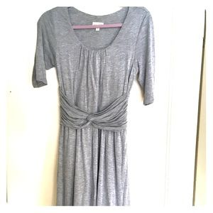 Small gray, three quarters length sleeve dress